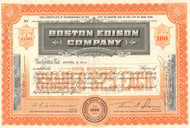 Boston Edison Company stock certificate 1950's (electric utility)