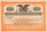 Ozone Manufacturing Company stock certificate 1890's
