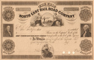 Erie and North East Rail Road Company stock certificate 1850's