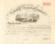 Schuylkill Navigation Company stock certificate circa 1830