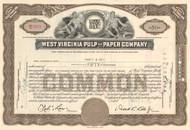 West Virginia Pulp and Paper Company stock certificate 1953 (Westvaco)