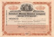 Schubert Marine Sounding Company stock certificate circa 1911