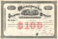 Chesapeake Steamship Company stock certificate 1928 (Baltimore MD)