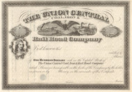 Union Central Coal, Iron and Railroad Company stock certificate circa 1868