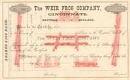 Weir Frog Company, Cincinnati  stock certificate circa 1882