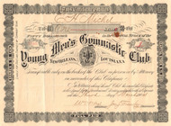 Young Men's Gymnastic Club stock certificate 1904 (New Orleans LA)