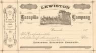 Lewiston Turnpike Company stock certificate 1870's (California)