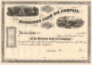 Morrison Farm Oil Company stock certificate circa 1865 (Pennsylvania)