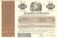 Republic of Austria $1000 bond certificate 1989 (Europe)