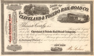 Cleveland and Toledo Rail-Road Co. stock certificate 1860's (Ohio)