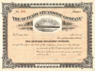 Buffalo Steamship Company stock certificate circa 1911 (New York)