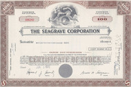 Seagrave stock certificate (1972) - famous fire engine maufacturer