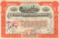 United Traction Company stock certificate 1912 (Pittsburgh PA)