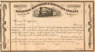 Michigan Southern and Northern Indiana Railroad Company stock certificate circa 1850's