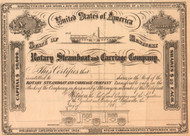 Rotary Steamboat and Carriage Company stock certificate 1866 (Kentucky)