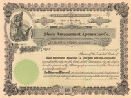 Shore Amusement Apparatus Company stock certificate circa 1906  (New York)