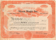 Moon Magic Inc. stock certificate 1935  (New York)
