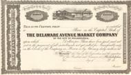 Delaware Avenue Market Company stock certificate 1860's (Philadelphia PA)