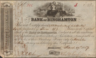 Bank of Binghamton stock certificate 1857 (New York)