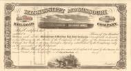 Mississippi and Missouri Railroad Company stock certificate 1860's (Iowa)