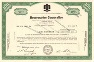 Hovermarine Corporation stock certificate 1973