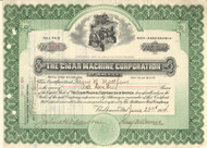 Cigar Machine Corporation of America stock certificate 1914 (Baltimore MD)