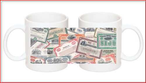 Stock certificate coffee mug