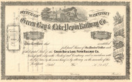 Green Bay and Lake Pepin Railway Company stock certificate 1870's (Wisconsin)