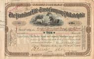 Provident Life Trust Company stock certificate 1914 (Philadelphia)