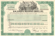 RJR Nabisco Holdings Group, Inc. bond certificate 1990 (huge leveraged buyout)