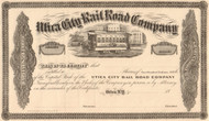 Utica City Rail Road Company stock certificate 1862 (New York)