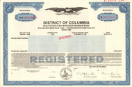 District of Columbia bond certificate specimen 1985