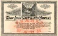 West Iron Gate Land Company stock certificate circa 1890