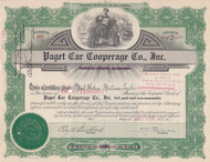 Paget Car Cooperage stock certificate