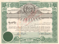 Baseball of Toledo, Inc. (Mud Hens) stock certificate 1952 (president indicted for fraud)
