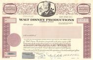 Walt Disney Productions specimen stock certificate circa 1984
