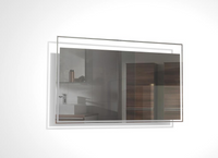 TONA 36 INCH WALL MOUNTED BATHROOM MIRROR WITH LED LIGHT
