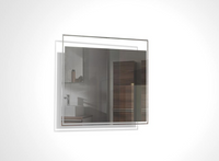 TONA 24 INCH WALL MOUNTED BATHROOM MIRROR WITH LED LIGHT