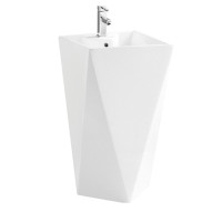 Korela KR-6010 White Pedestal Sink