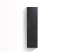 MOB BLACK BATHROOM LINEN SIDE CABINET W/ 2 STORAGE AREAS