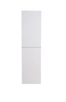 MOB HIGH GLOSS WHITE BATHROOM LINEN SIDE CABINET W/ 2 STORAGE AREAS