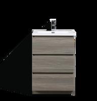 MOA 24″ Mayple Grey MODERN BATHROOM VANITY W/ 3 DRAWERS AND ACRYLIC SINK