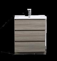 MOA 30″ MAYPLE GREY  MODERN BATHROOM VANITY W/ 3 DRAWERS AND ACRYLIC SINK