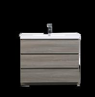 MOA 42″ MAYPLE GREY  MODERN BATHROOM VANITY W/ 3 DRAWERS AND ACRYLIC SINK