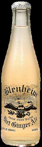 Blenheim #9 Diet Ginger Ale (White Cap) in 12 oz. glass bottles for Sale