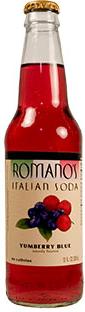 Buy Romano's Yumberry Blue Italian Soda in 12oz glass bottles from SummitCitySoda.com
