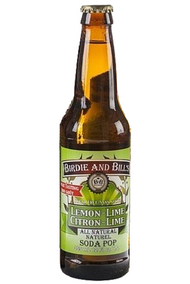 Birdie and Bill's Lemon Lime  - All Natural Soda Pop in 12 oz glass bottles at SummitCitySoda.com