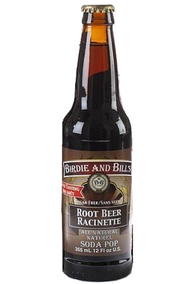 Birdie and Bill's Root Beer - All Natural Soda Pop in 12 oz glass bottles at SummitCitySoda.com