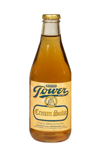 Tower Cream Soda in 12 oz glass bottles for sale from SummitCitySoda.com