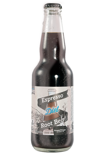 Northwoods Diet Espresso Root Beer in 11.5 oz glass bottles for Sale at SummitCitySoda.com